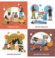 homeless people design concept vector image vector image