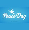 international peace day card dove and olive vector image