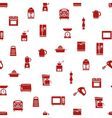 kitchen appliances and tools seamless pattern vector image vector image