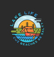 lake life logo design modern liquid dynamic style vector image