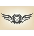 Lion head with wings vector image