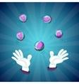 Magician hands show magic trick vector image vector image