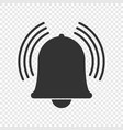 notification bell icon vector image vector image
