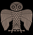 owl painted in retro style logo vector image