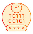 password flat icon pin code orange icons in vector image vector image