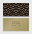 pattern-card-06 vector image vector image