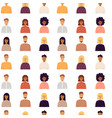 people portrait seamless pattern vector image