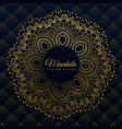 premium mandala decoration in golden ethnic style vector image vector image
