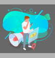 promotion concept man selecting a purchase vector image vector image