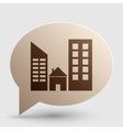 Real estate sign Brown gradient icon on bubble vector image