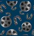 realistic detailed 3d reel of film tape seamless vector image vector image