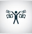 rich man icon trendy simple symbol concept vector image