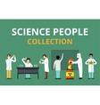 Science laboratory radiation biology people vector image