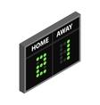 Scoreboard isometric 3d icon vector image vector image