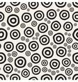 Seamless Hand Painted Circular Rings Jumble vector image vector image