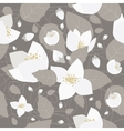 Seamless monochrome flower pattern vector image