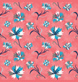 seamless vintage floral pattern with corn flowers vector image vector image