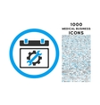 service day rounded icon with 1000 bonus icons vector image vector image