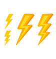 set lightning icons vector image vector image