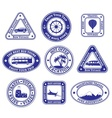 Set of travel and tourism stamps and badges