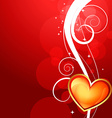shiny valentine day background vector image vector image