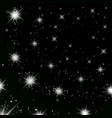 silver stars black night sky background abstract vector image vector image