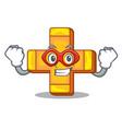 super hero cartoon plus sign logo concept health vector image vector image