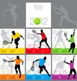 tennis aces 2012 calendar template vector image vector image