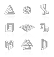 Trendy optical shapes on white vector image vector image