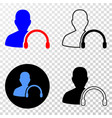 user headphones eps icon with contour vector image