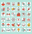 valentine outline icon set vector image vector image