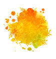 watercolor spot banner with autumn leaves vector image vector image
