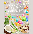 white color diet veggies and fruits vector image