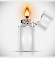 white lighter vector image