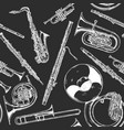 woodwind and brass musical instrument vector image vector image