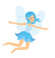 young pretty angelic fairy girl flying and rise vector image vector image