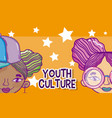 youth culture avatar vector image
