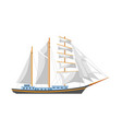 huge sailboat with shiny fairy canvas and spacious vector image