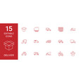 15 deliver icons vector image vector image