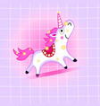 a lovely funny unicorn vector image vector image