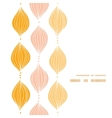 abstract golden ogee vertical frame seamless vector image vector image