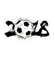 abstract number 2018 and soccer ball vector image vector image