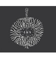 apple zentangle isolated vector image vector image