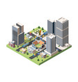 baseball field top view isometric vector image