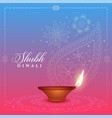 beautiful diwali background with diya and paisley vector image vector image