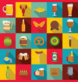 Beer icons set flat style