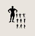 Bodybuilding Silhouette vector image vector image
