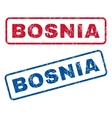 Bosnia Rubber Stamps vector image vector image