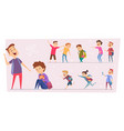 bullying kids teasing stressed children conflict vector image vector image