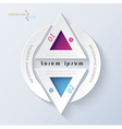 Business concept design with triangle vector image vector image